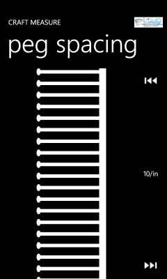 Image showing the page for measuring the spacing of pegs