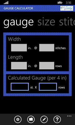 Image showing a selected Gauge pivot
