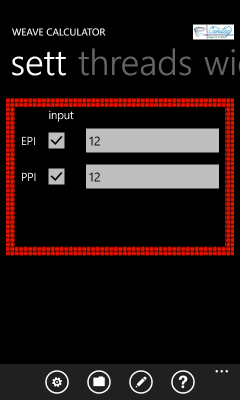 Image showing the pane prompting for or reporting the sett